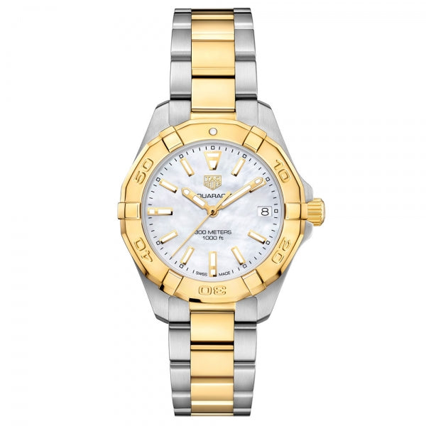 TAG Heuer Aquaracer Steel & Gold 32mm WBD1320.BB0320 Face
