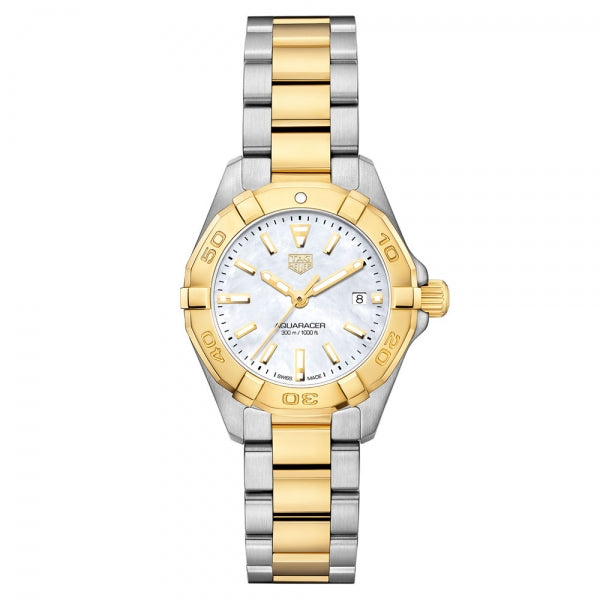 TAG Heuer Aquaracer Steel & Yellow Gold Plate 27mm WBD1420.BB0321 Face