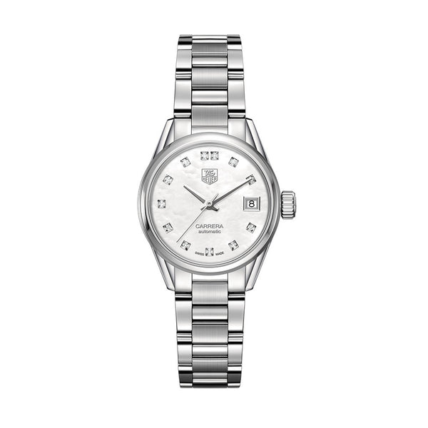 TAG Heuer Carrera Calibre 9 Automatic Watch Diamond Dial 28mm