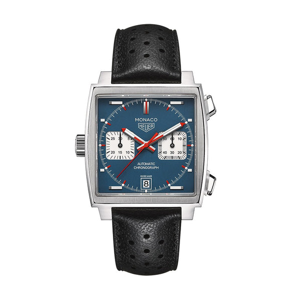 TAG Heuer Monaco Calibre 11 Automatic Chronograph 39mm CAW211P.FC6356 Face