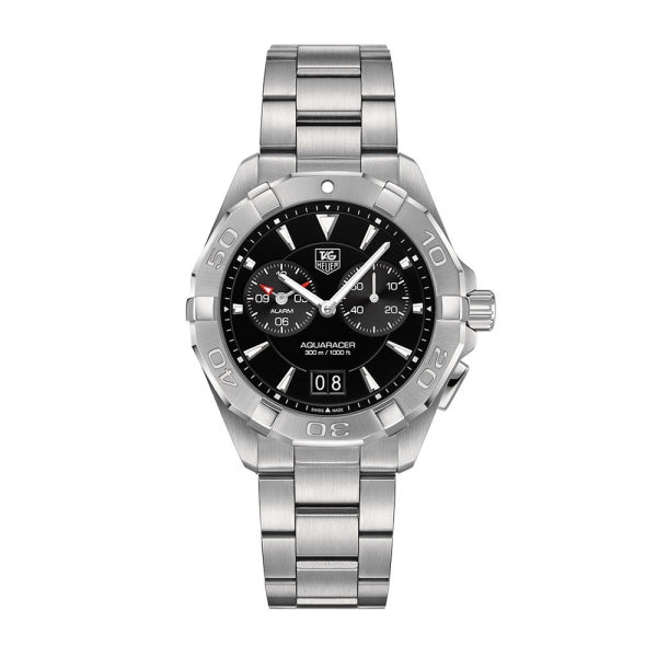 TAG Heuer Aquaracer Steel & Black 40.5mm WAY111Z.BA0928 Face