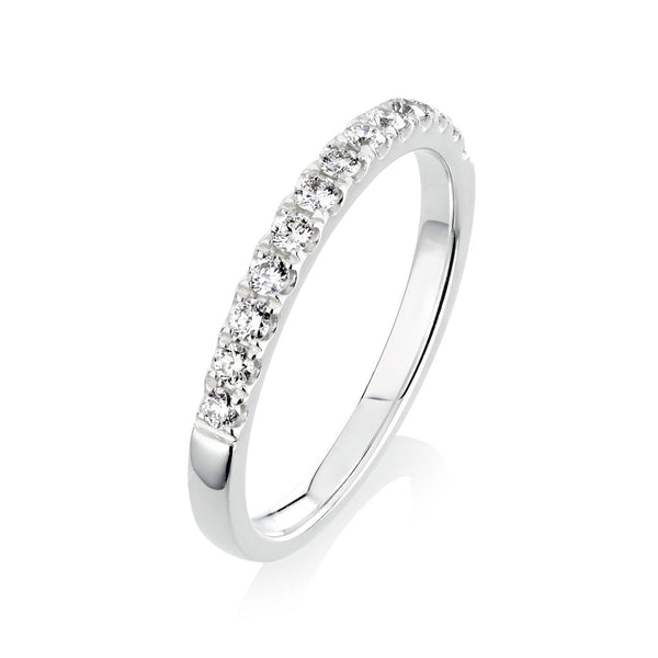 Burrells Platinum 0.28ct Round Brilliant Cut Diamond Half Eternity Ring