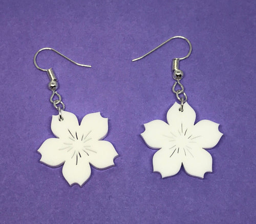 Cherry Blossom Earrings (Pink or White)
