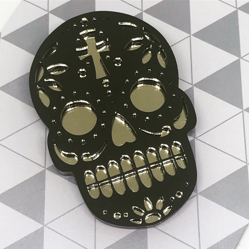 Black & Gold Candy Skull