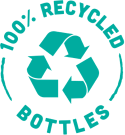 100% Recycled bottles