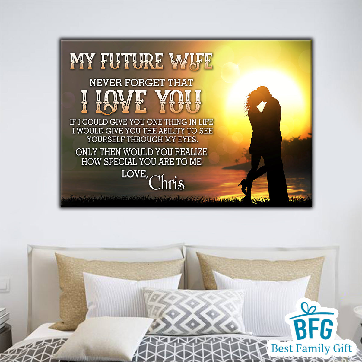 Personalized Canvas - To My Future Wife I Love You