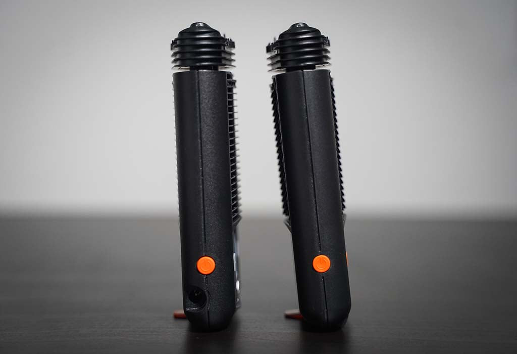 Mighty vs Mighty+ Dry Herb Vaporizer Standing Up