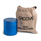 Groove 4 Piece CNC Grinder/Sifter Blue with Bag