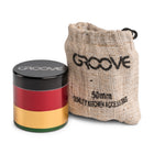 Groove 4 Piece CNC Grinder/Sifter Rasta with Bag