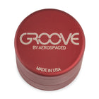 "Groove by Aerospaced 2"" 4-Piece Grinder / Sifter in Red"