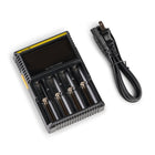 Nitecore D4 Four Channel Battery Charger Top