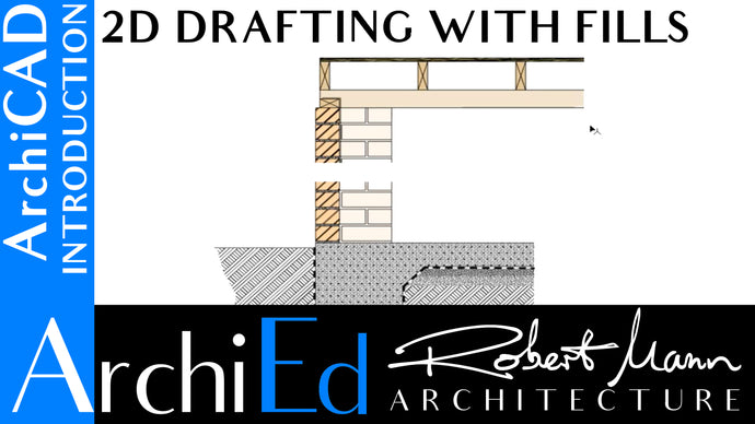 ARCHICAD: 2D DRAFTING WITH FILLS