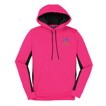 Load image into Gallery viewer, Ladies - Sport-Tek® Sport-Wick® Fleece Colorblock Hooded Pullover