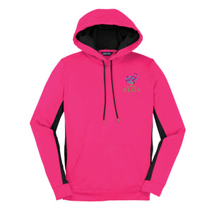 Ladies - Sport-Tek® Sport-Wick® Fleece Colorblock Hooded Pullover