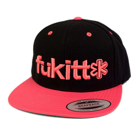 Traditional Black & Neon Pink Snapback 6089