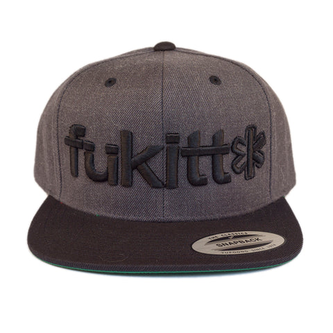 Fükitt Clothing | Traditional Design on Grey & Black Snapback Cap