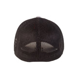 Fükitt Clothing | Traditional Grey & Black Fitted Melange Trucker Cap Back