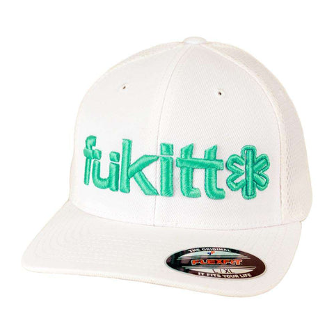 Traditional White Ultrafibre Airmesh Cap 6533