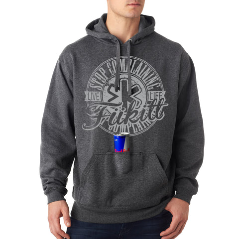 Fukitt Clothing | Circomplain Design Charcoal Grey Hooded Sweatshirt