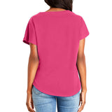 Fukitt Clothing | Regrets Design on Ladies Hot Pink Dolman T-Shirt Back