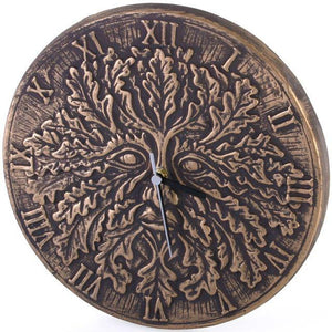 Green Man Wall Clock Large 30cm