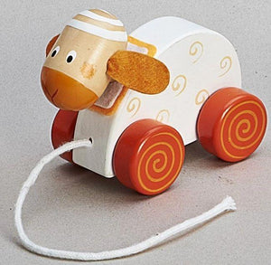 Children's Wooden Pull Along Sheep Toy
