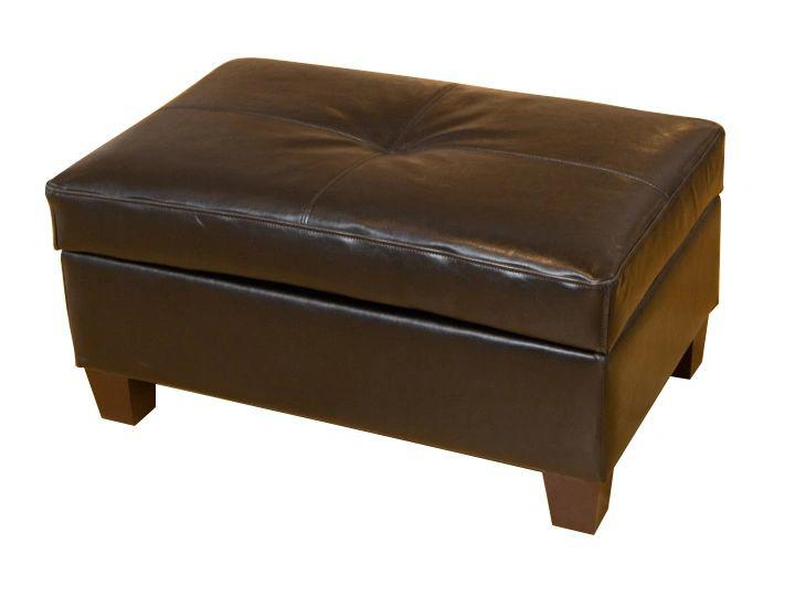 Medium Real Leather Ottoman