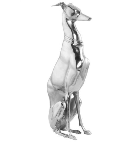 KOKOON Luxor 69cm Greyhound Statue Polished Aluminium