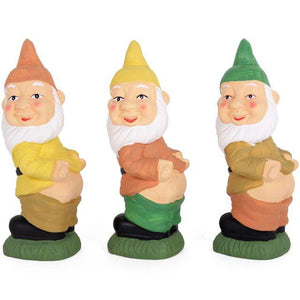 Novelty Mooning Garden Gnome Ornament Figurine Outdoor