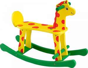 Wooden Toy Rocking Giraffe For Kids Ride On Rocker Toy