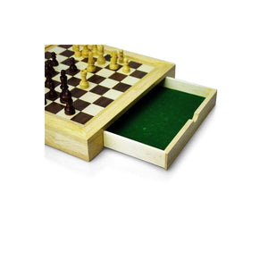Wooden Traditional Style Travel Edition Chess Set