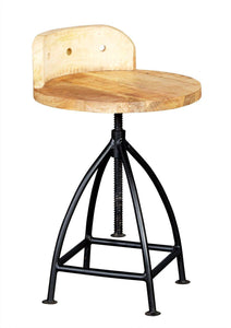 Indian Hub COSMO Industrial Style Wooden Chair