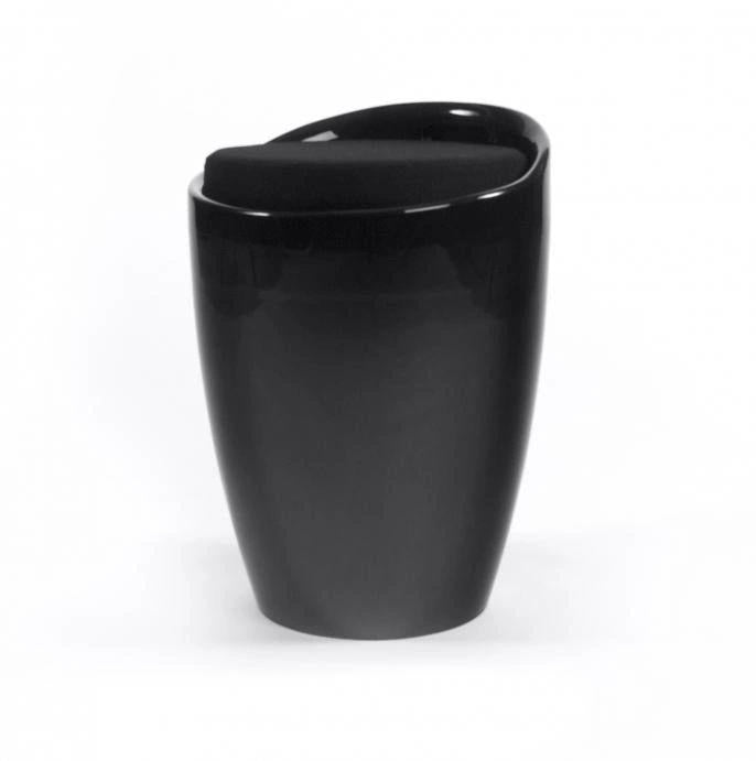 KOKOON Ese Storage Stool Black With Black Seat
