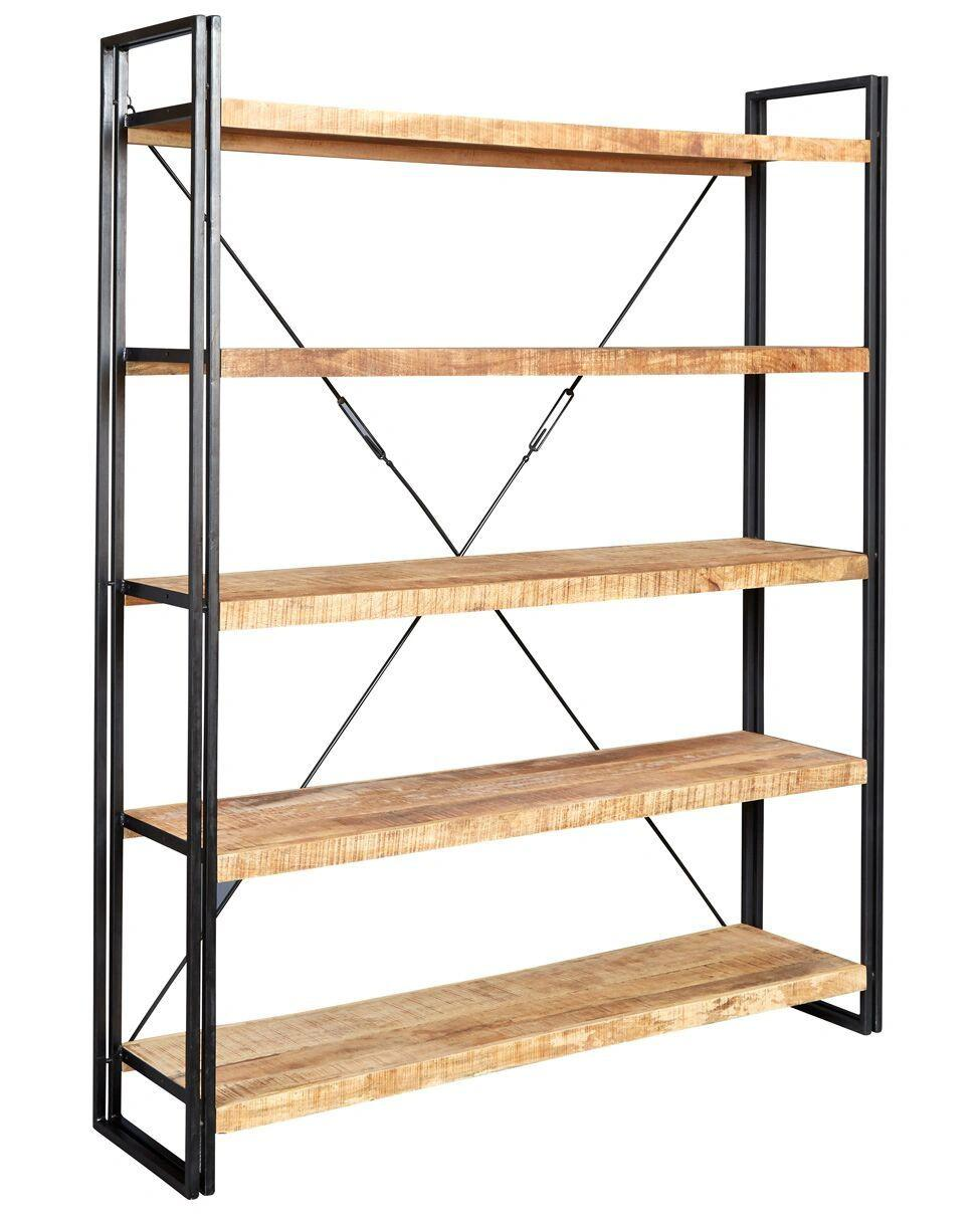 Indian Hub COSMO Industrial Style Large Open Bookcase