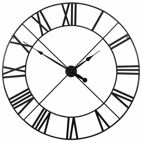 Extra Large 110cm Black Metal Wall Clock