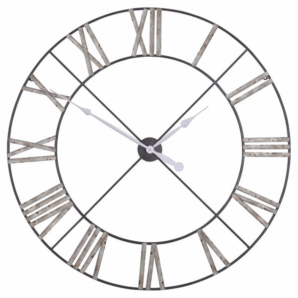 Extra Large 110cm Vintage Metal Wall Clock