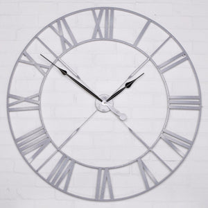 Vintage Speckled Grey 110cm Wall Clock