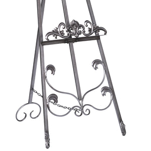 Antiqued Silver Metal Easel 165cm