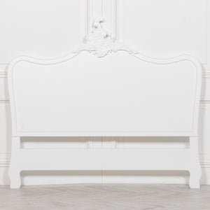 French White 4ft6 Double Size Headboard