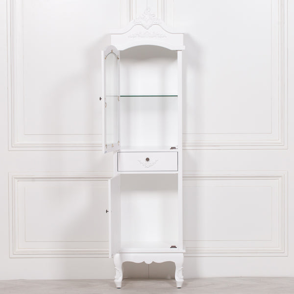 French White Display Cabinet
