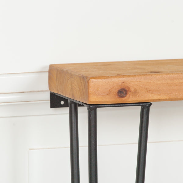 Rustic Wooden Hairpin Hall Table Console 92cm