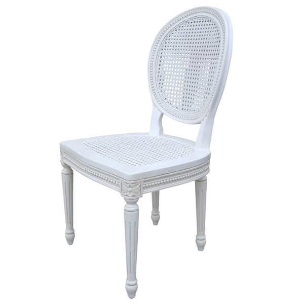 Chateau White Rattan Dining Chair