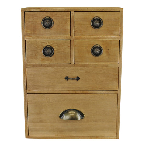 6 Drawer Storage Cabinet, Assorted  Size Drawers