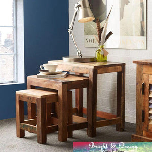 COASTAL Reclaimed Wooden Nest of 3 Tables