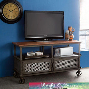 EVOKE Iron / Wooden Jali TV Unit