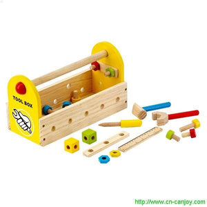 Small Wooden DIY Tool Case For Children Tool Box