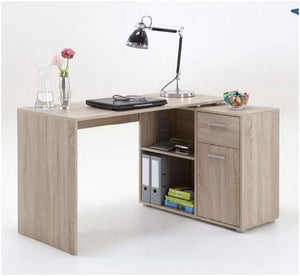 Nerine Corner Flexi Desk Oak Effect 1