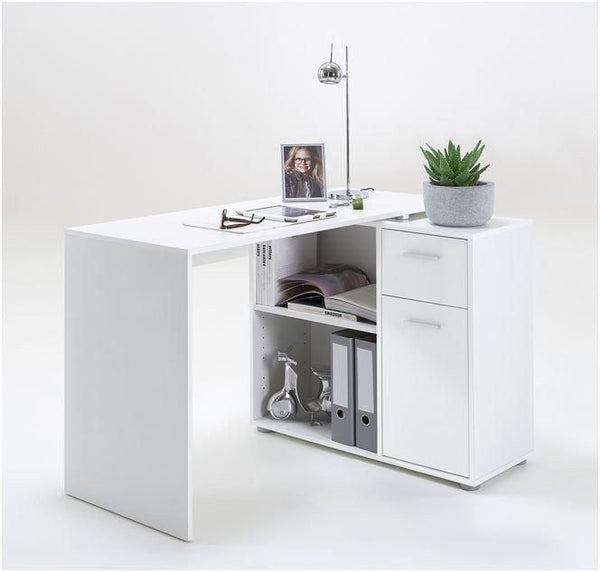 Nerine Corner Flexi Desk White