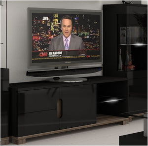 Blossom TV unit Black Gloss