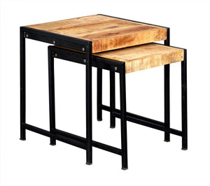 Indian Hub COSMO Industrial Style Nest of 2 Tables